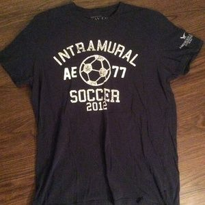 Intramural Soccer 2012 Navy T-Shirt American Eagle